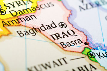 Map showing Iraq